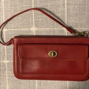 Vintage Red Coach Wristlet